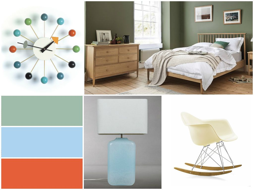 Ercol bedroom midcentury modern style in our new design scheme