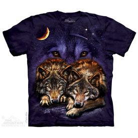 Zip Up Hoodie White Grey Wolf Native American Howling Moon Mountain