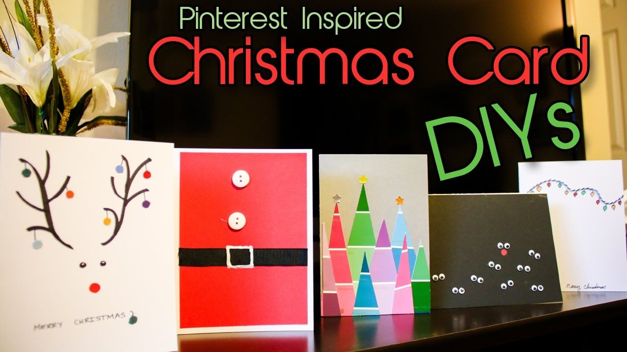 See how you can easily recreate some of these Pinterest inspired Christmas cards!