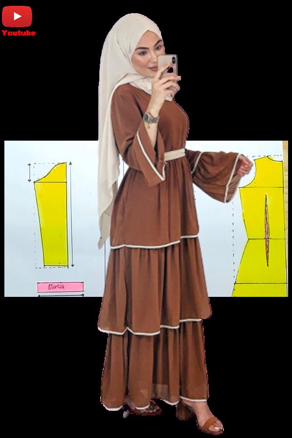 Pecah Pola Gamis Susun Pattern Making Tutorial Pola Pakaian Model Pakaian Muslim Pakaian