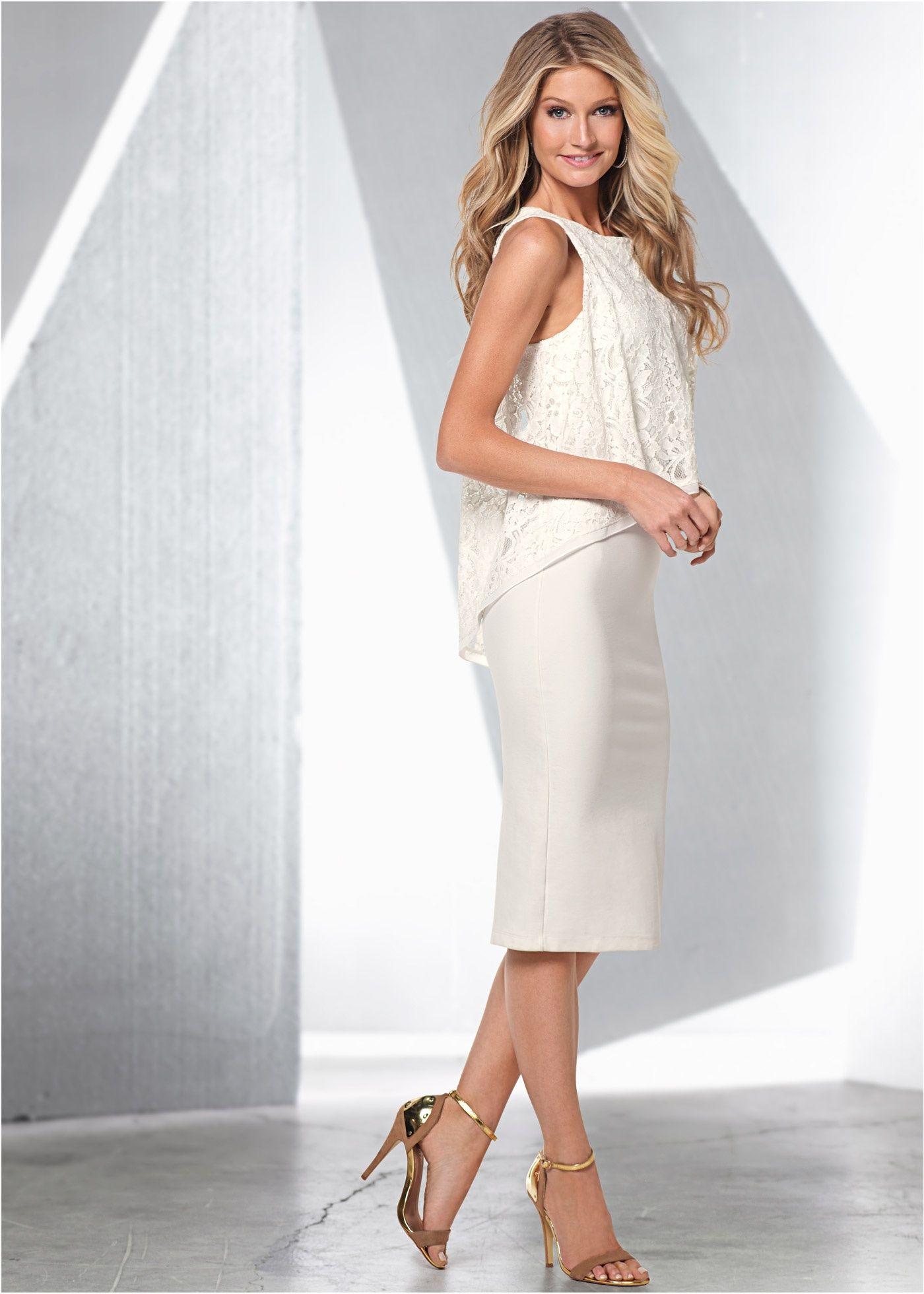Kleid mit Spitze wollweiß - BODYFLIRT boutique jetzt im ...