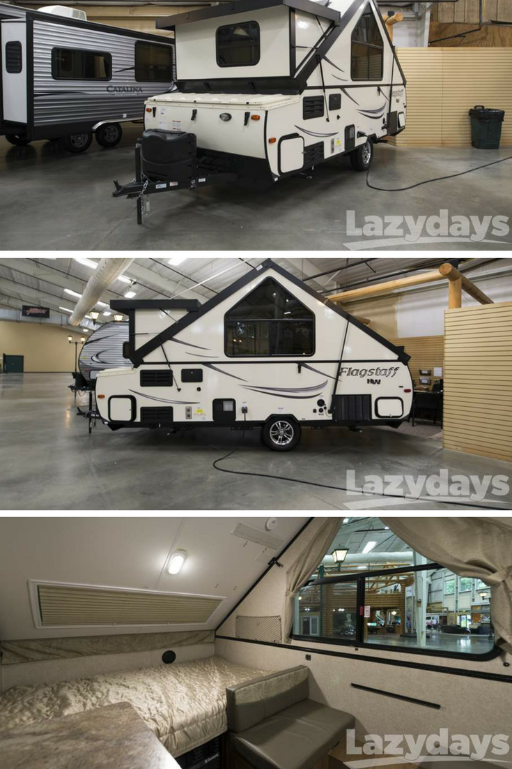 Start Glamping With The Brand New 2018 Forest River Flagstaff Hardside For Sale At Lazydays Rv A Frame Camper Pop Up Camper Trailer Used Camping Trailers