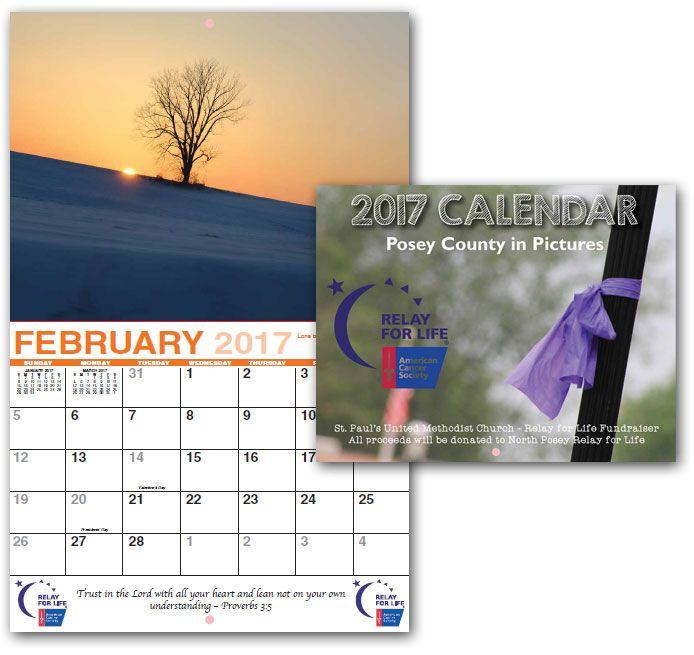 Laura Newman Photographer Relay For Life Calendar 2017 Custom Printing