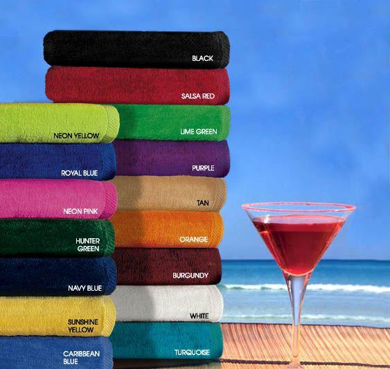 Bath Towels In Bulk Silkscreen 100 % Cotton 30X60 Terry Velour Beach Towels110 Lbs