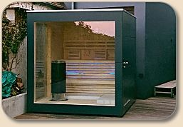 Gartensauna Modern gartensauna cube cubus design lebensstil saunas
