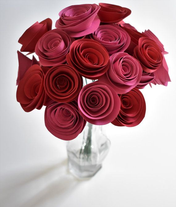 Valentines Day Decoration Valentine S Flowers Red And Pink Paper