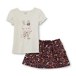 WonderKids Infant & Toddler Girl's Graphic T-Shirt & Skirt - Bunny