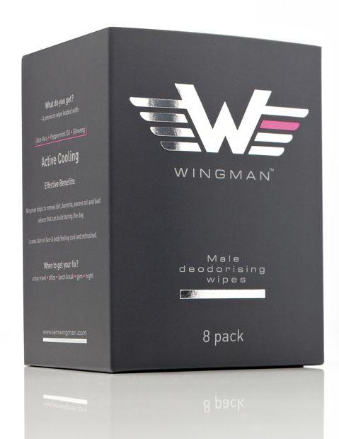 Wingman - male deodorising wipes