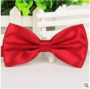Men's Bow Ties Solid color Butterfly Casual