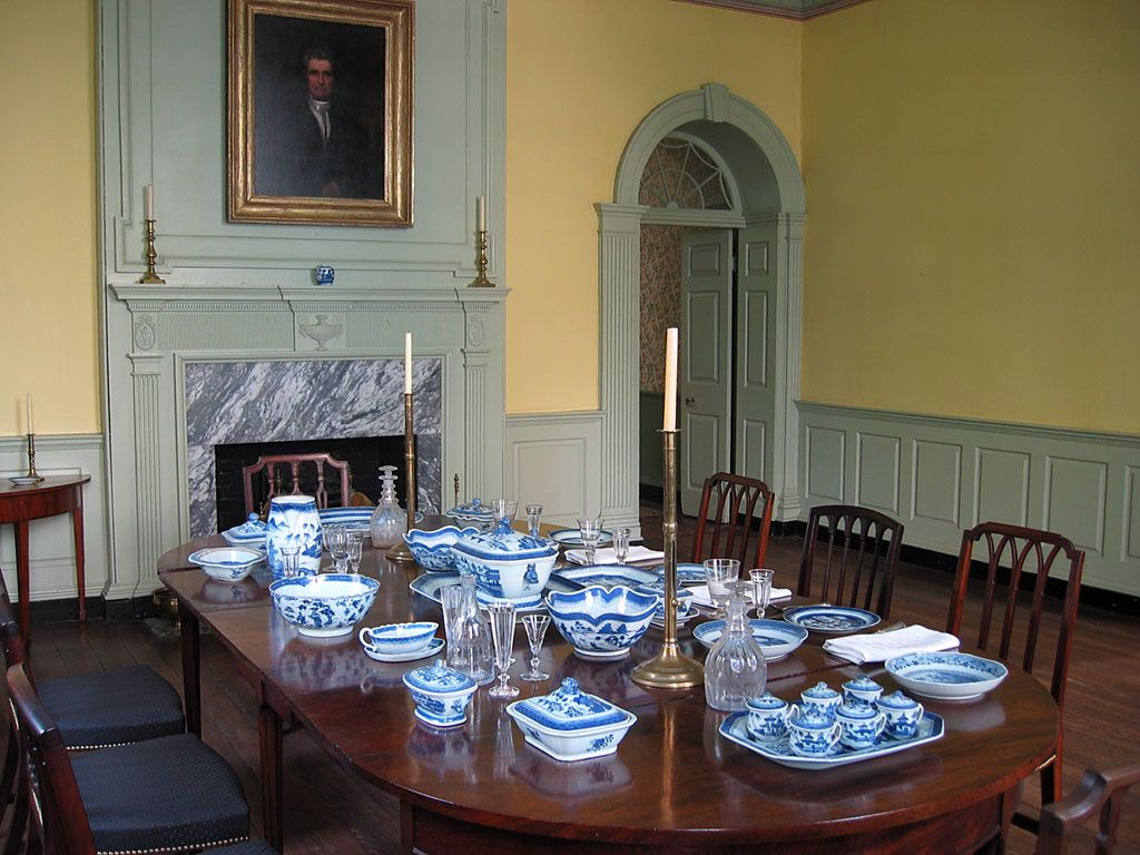 Another Vintage Incarnation Of The Large Dining Room John Marshall House In Richmond VA
