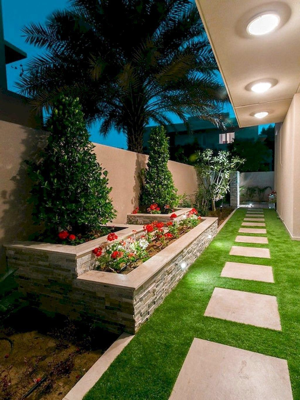 70 Favourite Side House Garden Landscaping Decoration Ideas With Rocks Home Garden Diy Backyard Landscaping Small Backyard Landscaping Side Yard Landscaping