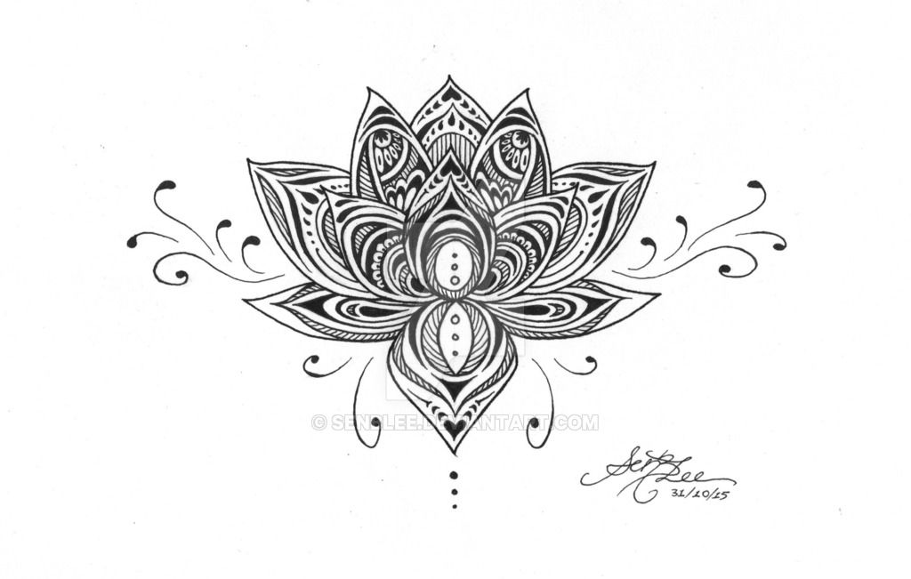 Classic black ink lotus flower tattoo design tattoos pinterest classic black ink lotus flower tattoo design mightylinksfo Gallery