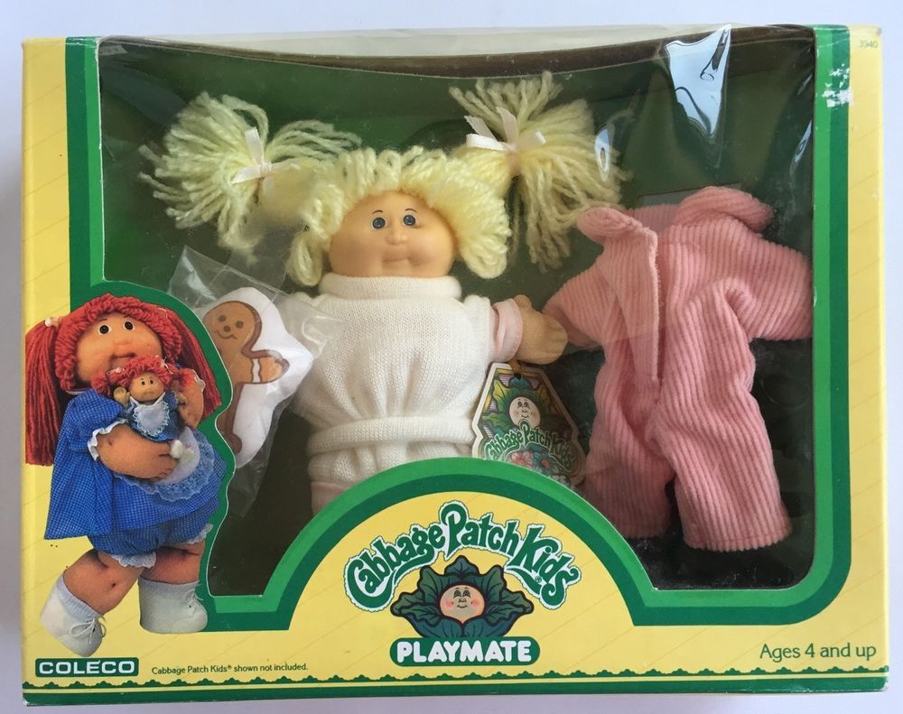 Vtg Cabbage Patch Kids Playmate Doll Pink Outfits New In Box Coleco Miniature Cabbage Patch Babies Cabbage Patch Dolls Cabbage Patch Kids