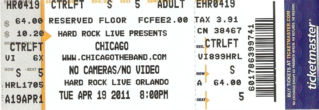 Chicago Live in Orlando, FL 19042011