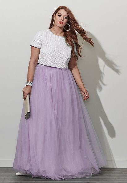 5a378940af7 Plus Size Tulle Skirt