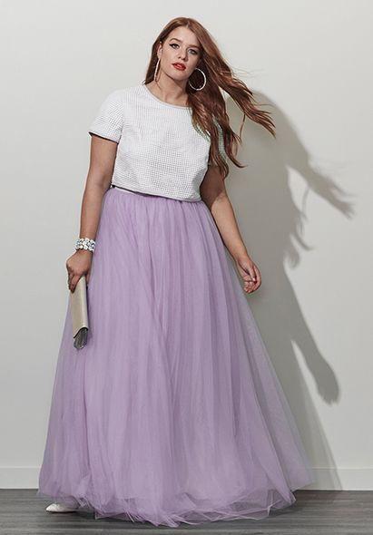 ff00d93cbdf2c Plus Size Tulle Skirt