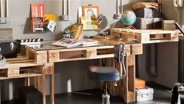 Faire un bureau en bois de palette des modèles bricolage