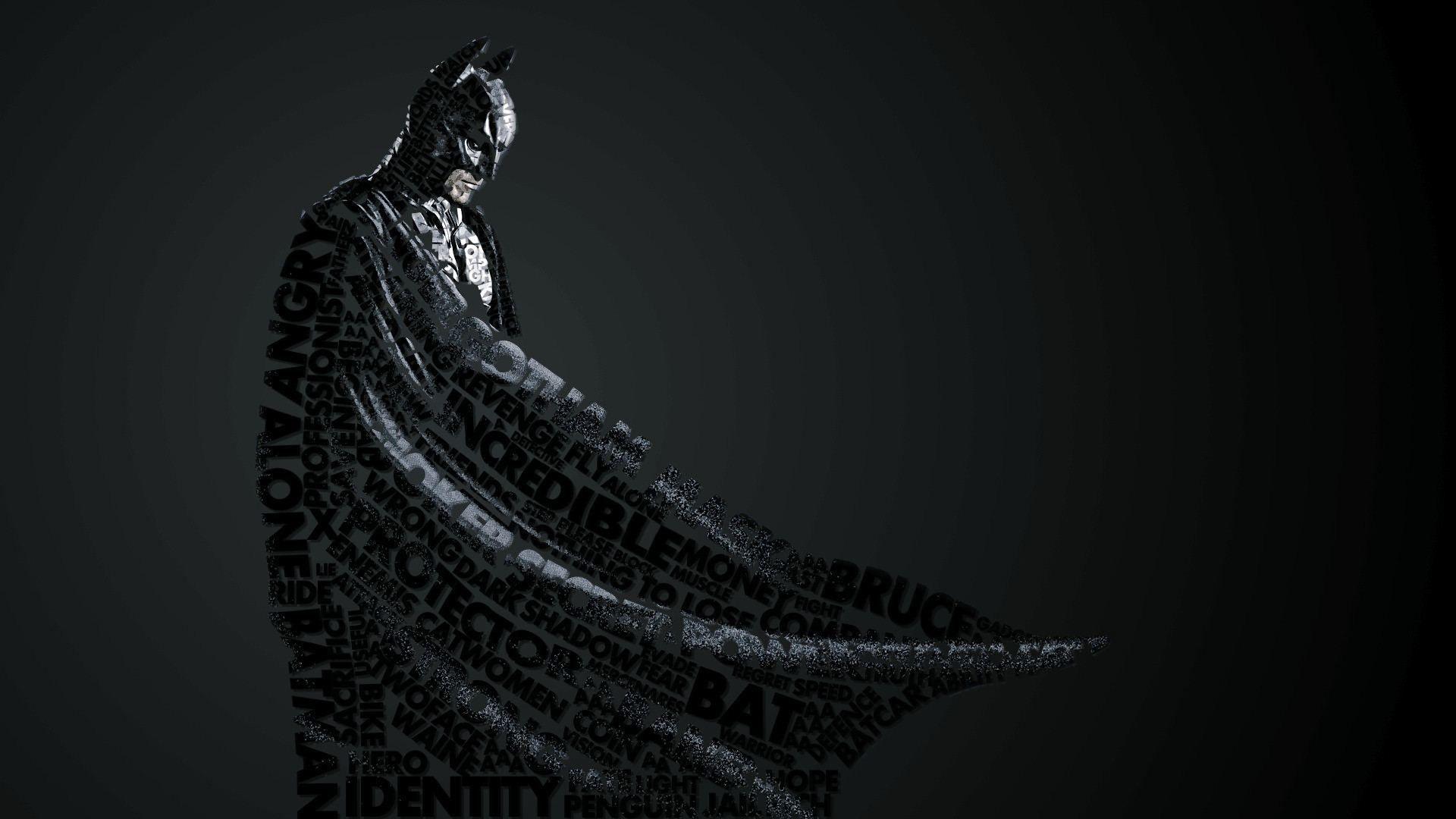 1920x1080 Wallpaper Batman Style Lettering