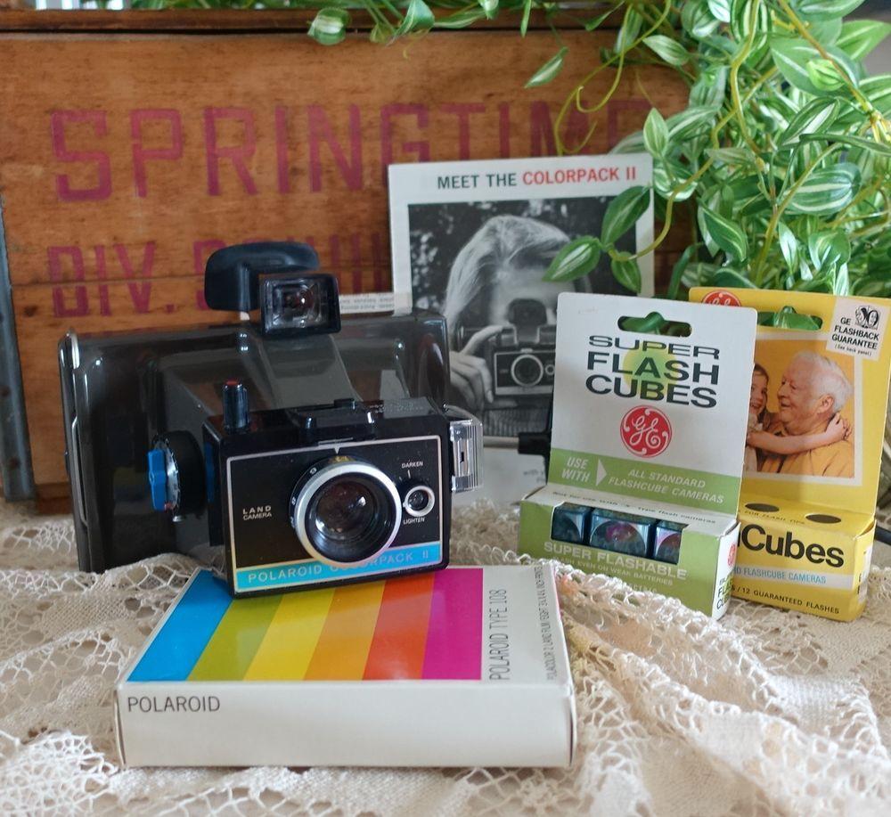 Poloroid Colorpack II Land Camera W/Case Polaroid 108 Film Unopened
