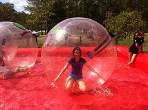 Bubble Runners Human Spheres Run Inside The Bubble On The Field Or On Top Of Water Bubbles Kids Birthday Party Fun Games