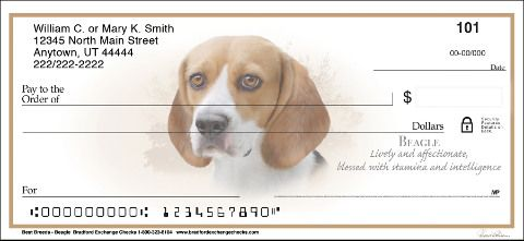 Beagle Personal Checks Beagle Dog Check Designs Http Www