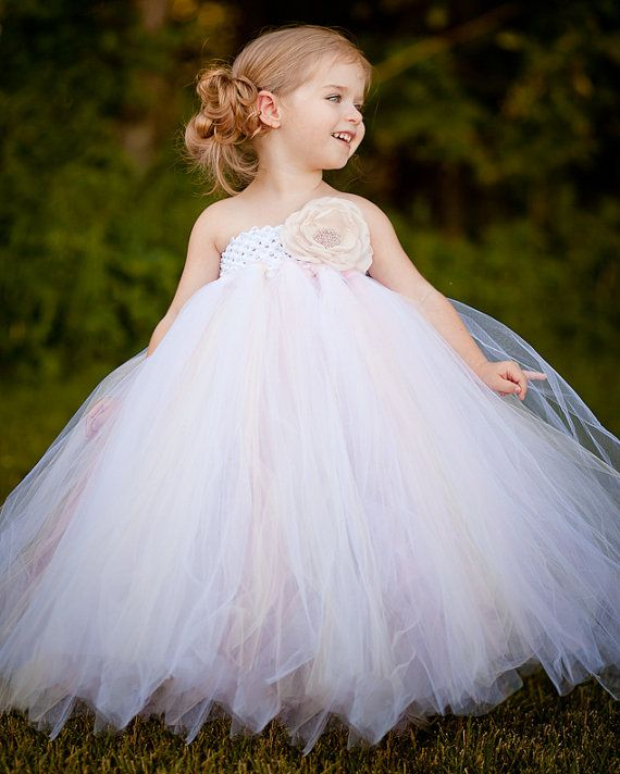 Tutu Dress In Vintage Daydream With Couture Handmade Rose