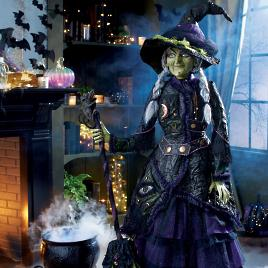 Animated Dark Night Dragon Grandin Road Katherine S Collection Life Size Witch Grandin Road