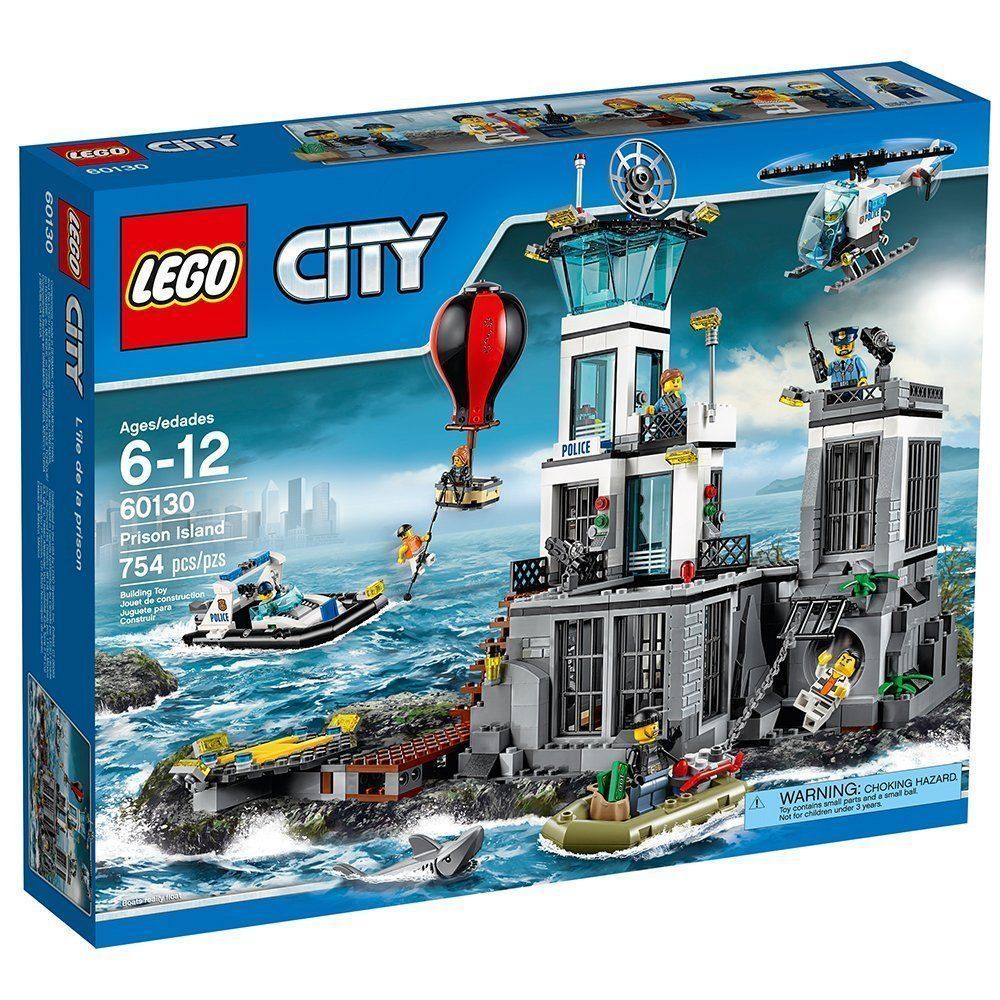 Lego City Police Prison Island 60130 Building Toy New Buying Toys Headquarters 7744