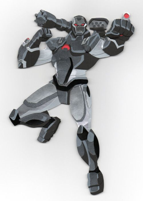 War Machine From Avengers Earth S Mightiest Heroes Paper Cut Out