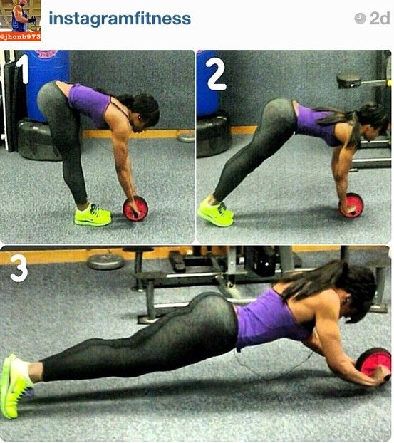 Pin by Melanie W on Exercise, Fitness, & Health | Ab wheel workout ...
