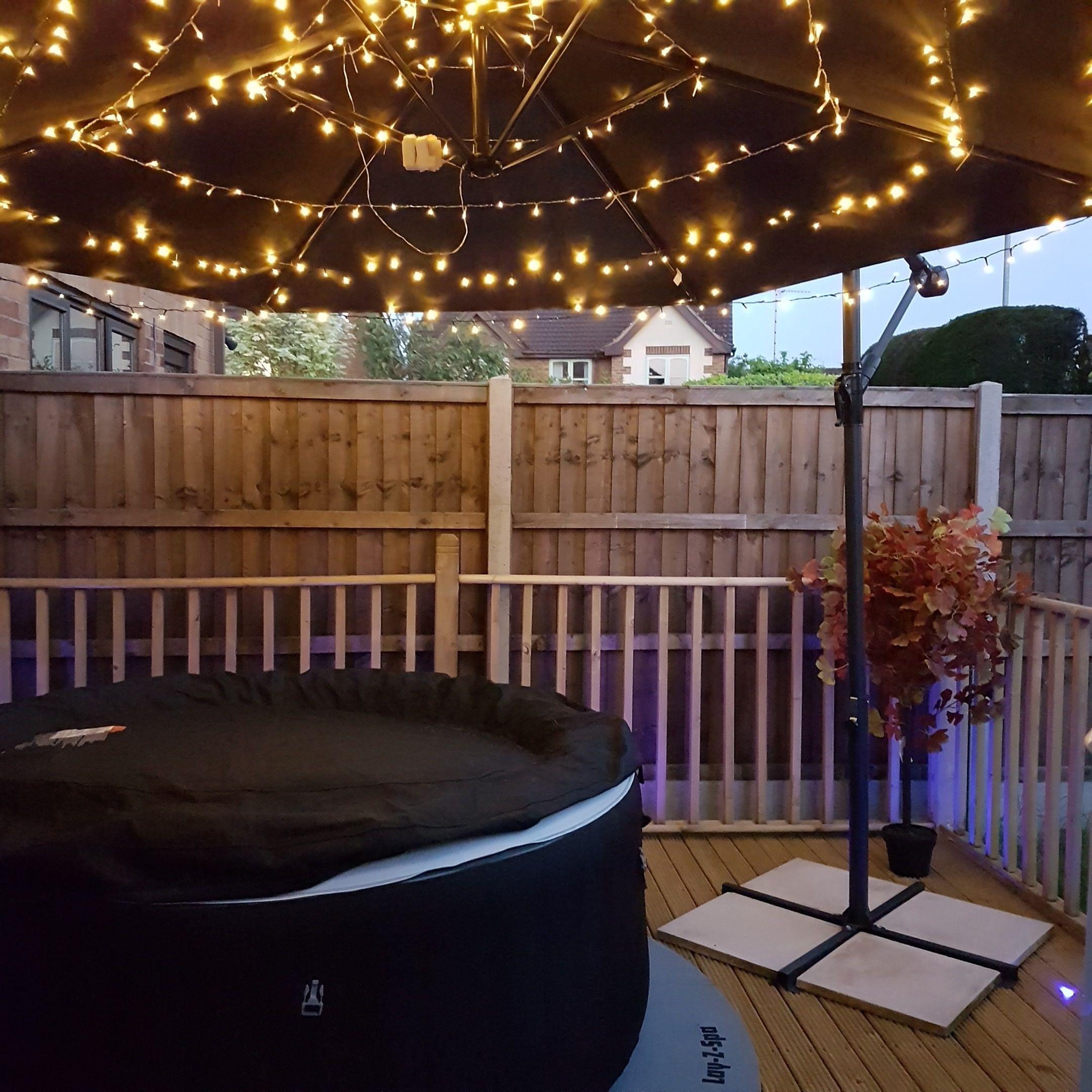 pin by gav gurd on garden lighting hot tub backyard hot. Black Bedroom Furniture Sets. Home Design Ideas