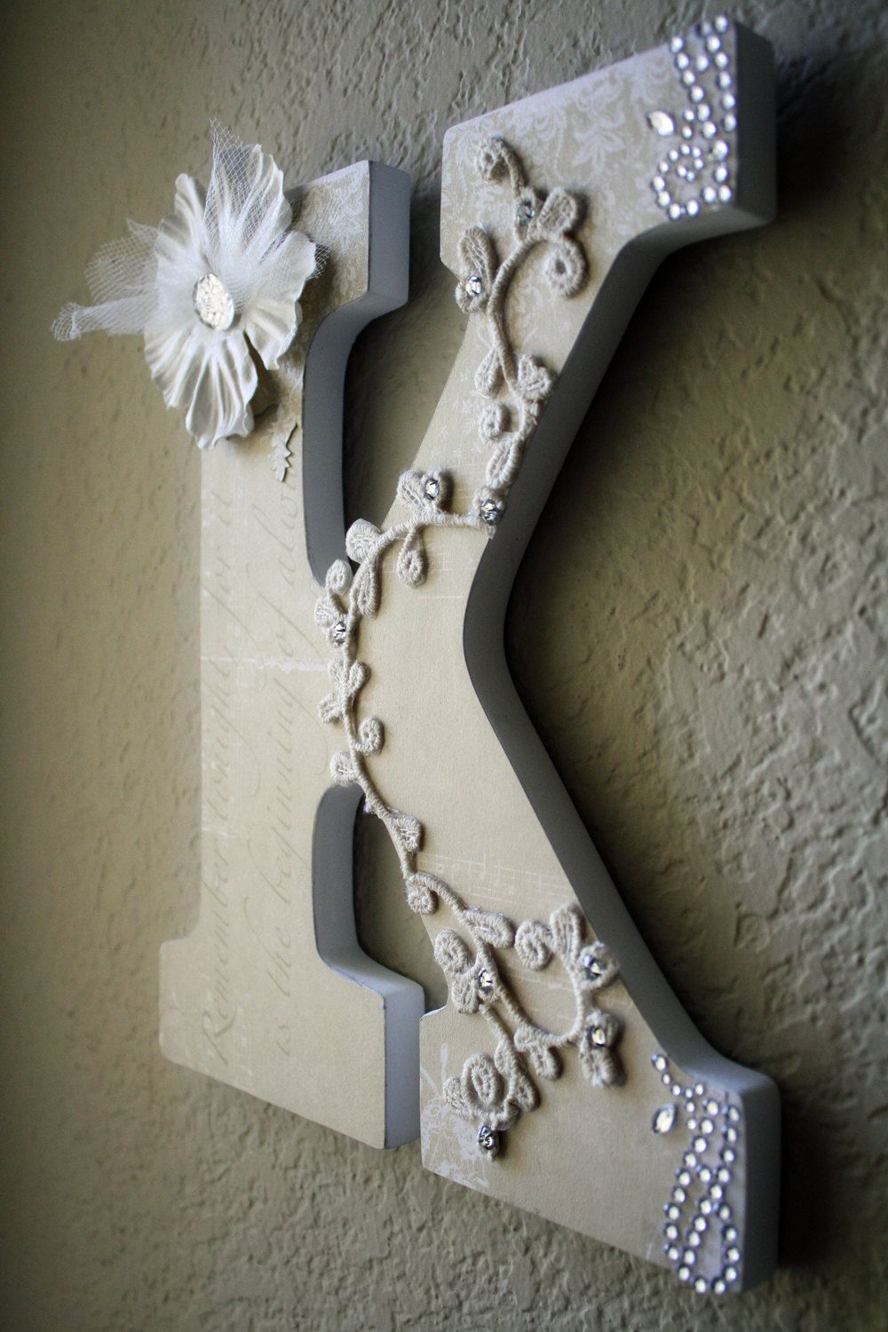Wooden Wedding Initial Monogram Bridal Letters 30 00