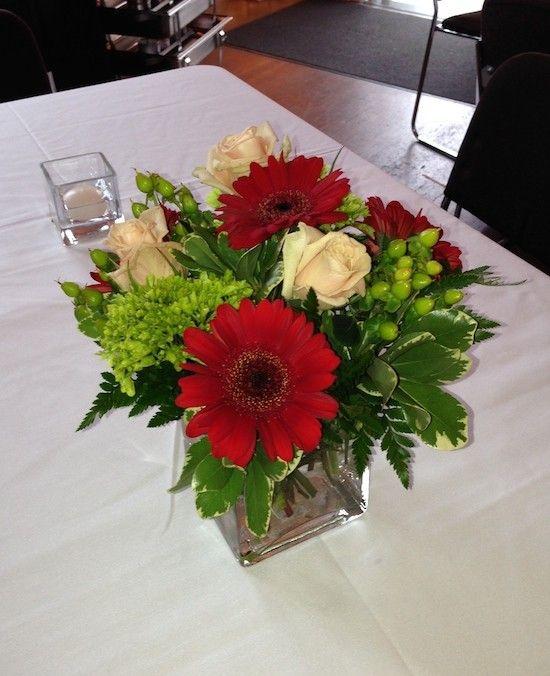 Centerpiece With Earth Tones, Has Roses, Hydrangea, Coffee