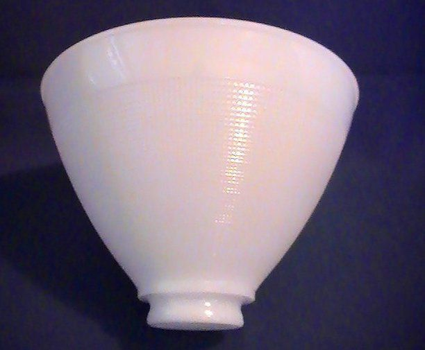 Milk Glass Reflector Lamp Shade Mini Waffle 2 25 Fitter X 8 X 6 Oos Glass Lamp Shade Lamp Shade Glass