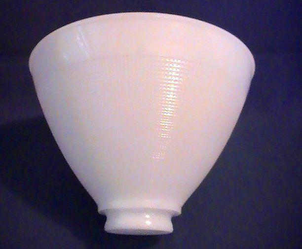Milk Glass Reflector Lamp Shade Mini Waffle 2 25 Fitter X 8 X 6