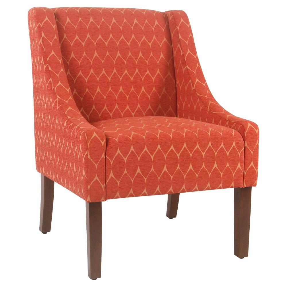 Best Modern Swoop Accent Chair Textured Melon Homepop 640 x 480