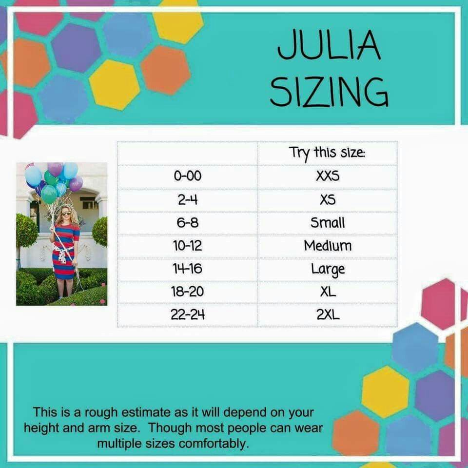 Julia sizing lularoe amelia price dress size also lula roe outfits rh pinterest