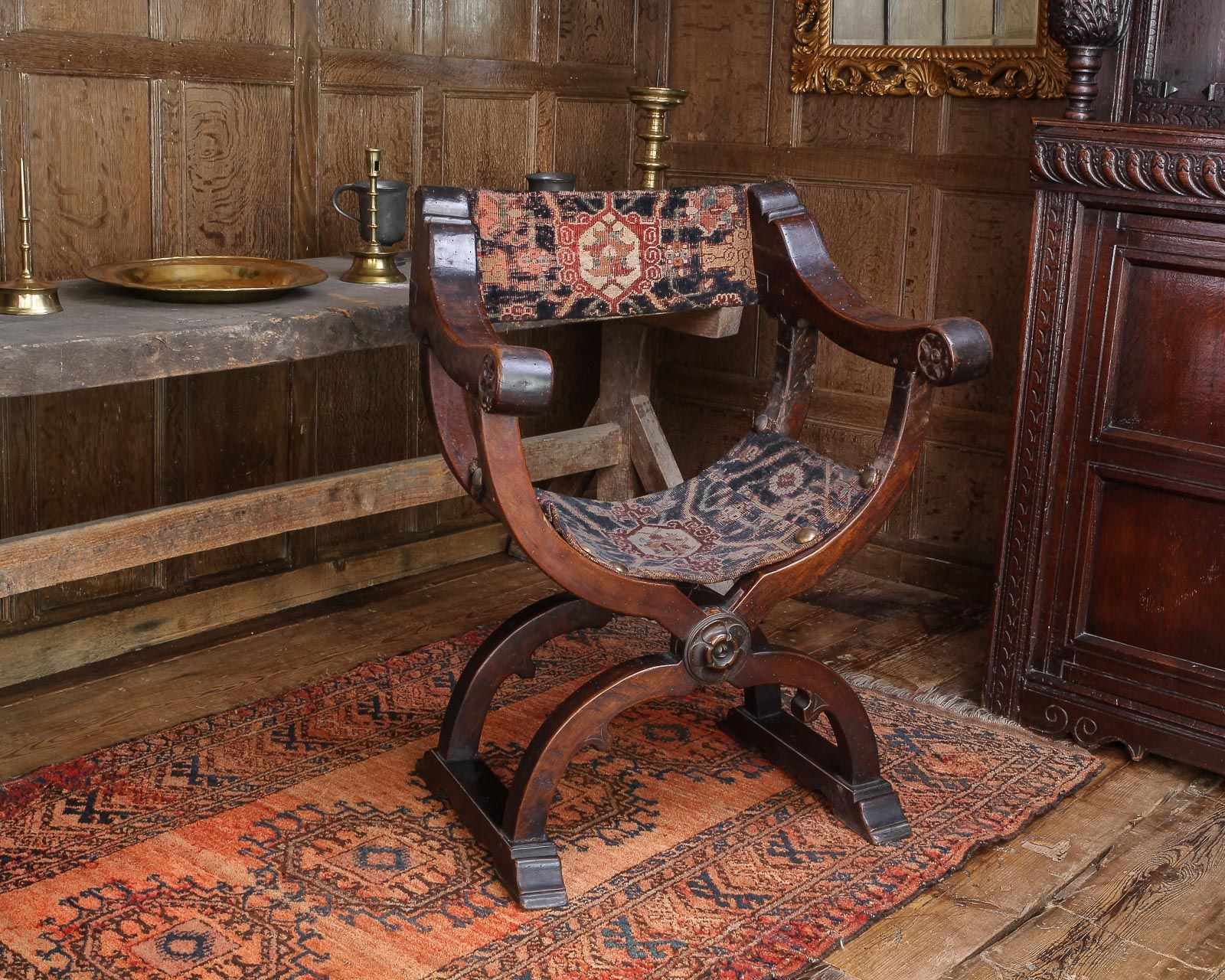 16th century X frame chair in 2020 Medieval furniture