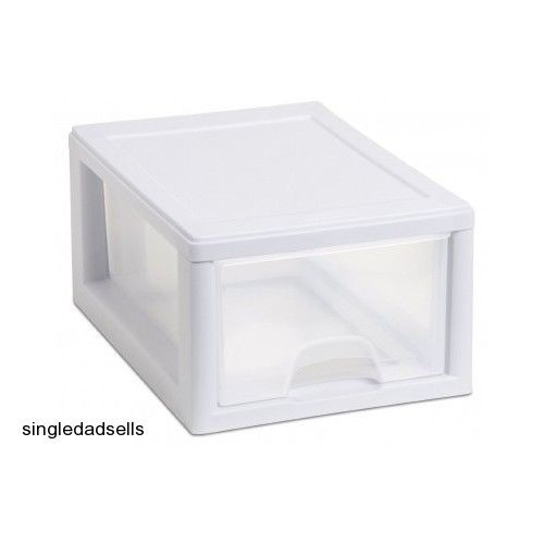 Sterilite 20518006 Small 6 Qt Stacking Drawer with White Frame and ...