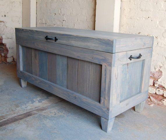 Esperanza pecho madera pecho / fin del Banco de la cama ...