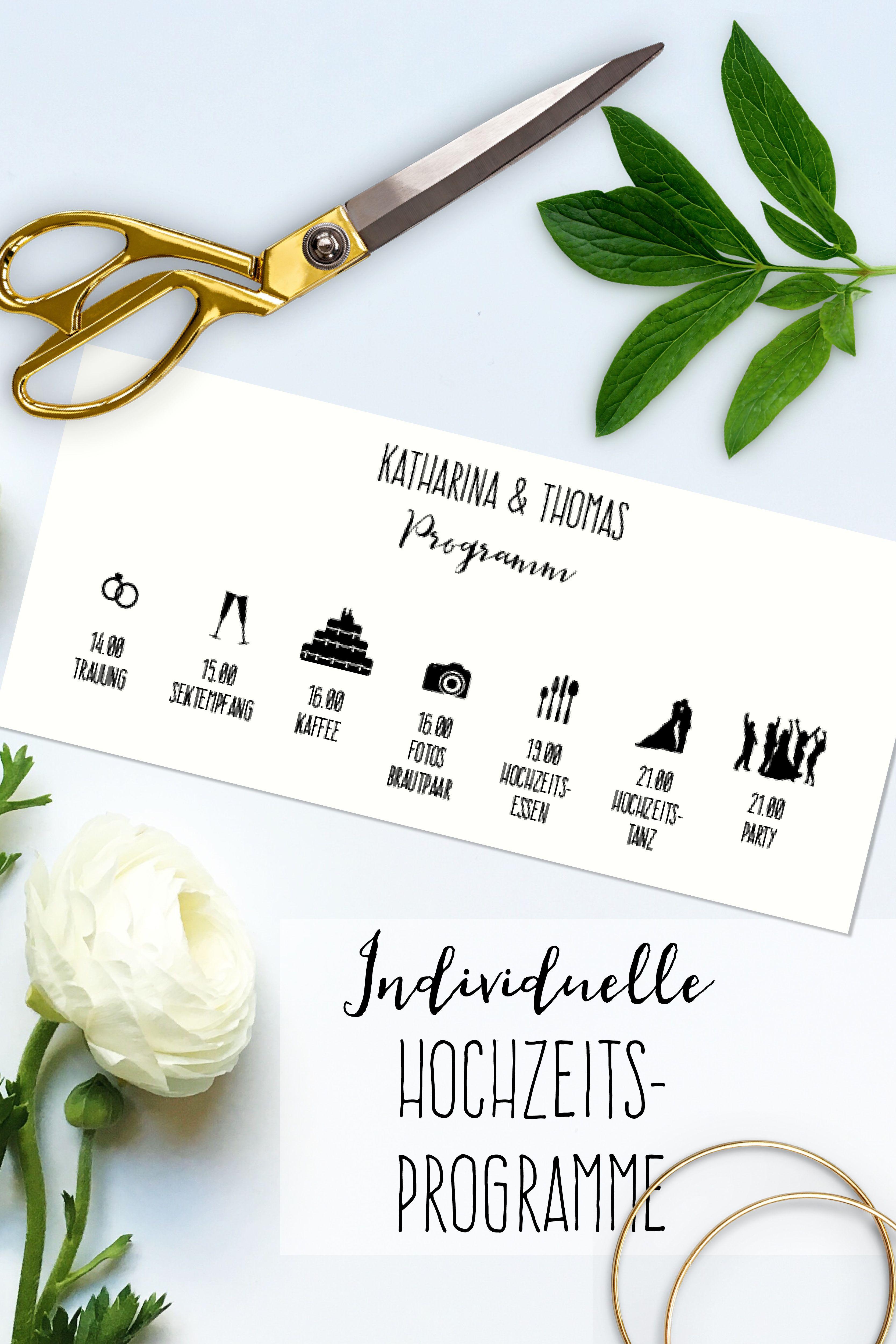 10 Hochzeitsprogramme mit eurem Ablaufplan | Wedding, Weddings and ...