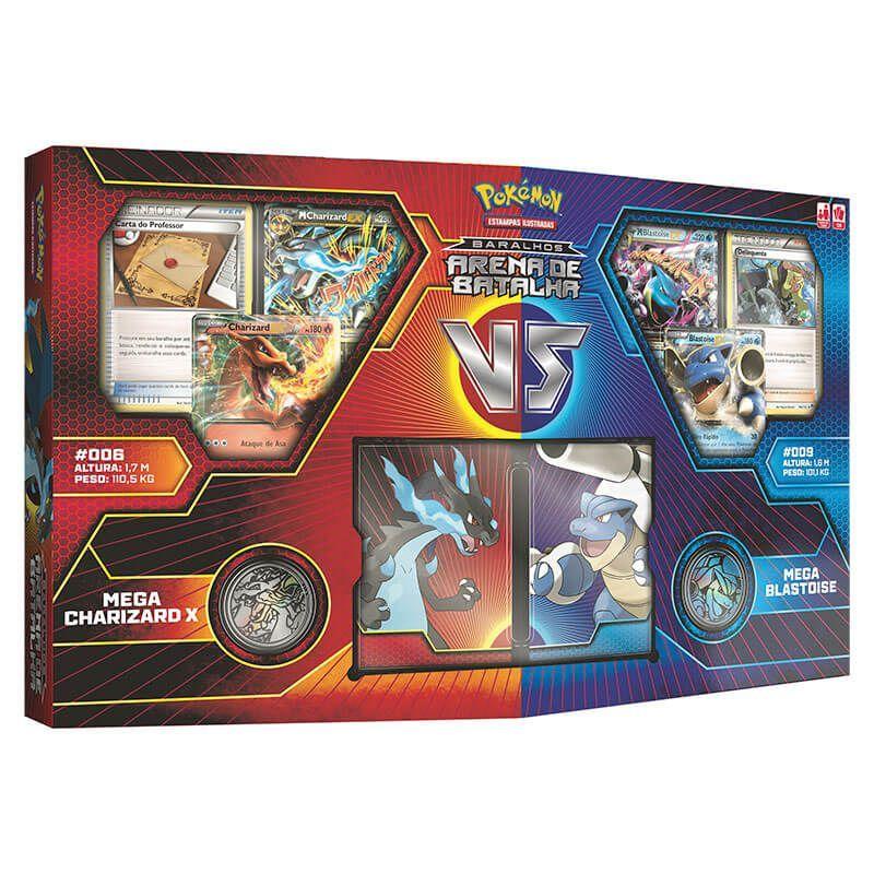 73749f4e6 Comprar Baralhos Pokémon TCG Arena de Batalha - Mega Charizard VS Mega  Blastoise na melhor loja