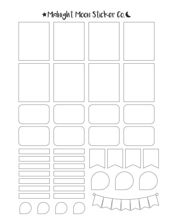 Mixed Template Printable Template Vertical Erin Condren Life - Sticker sheet template