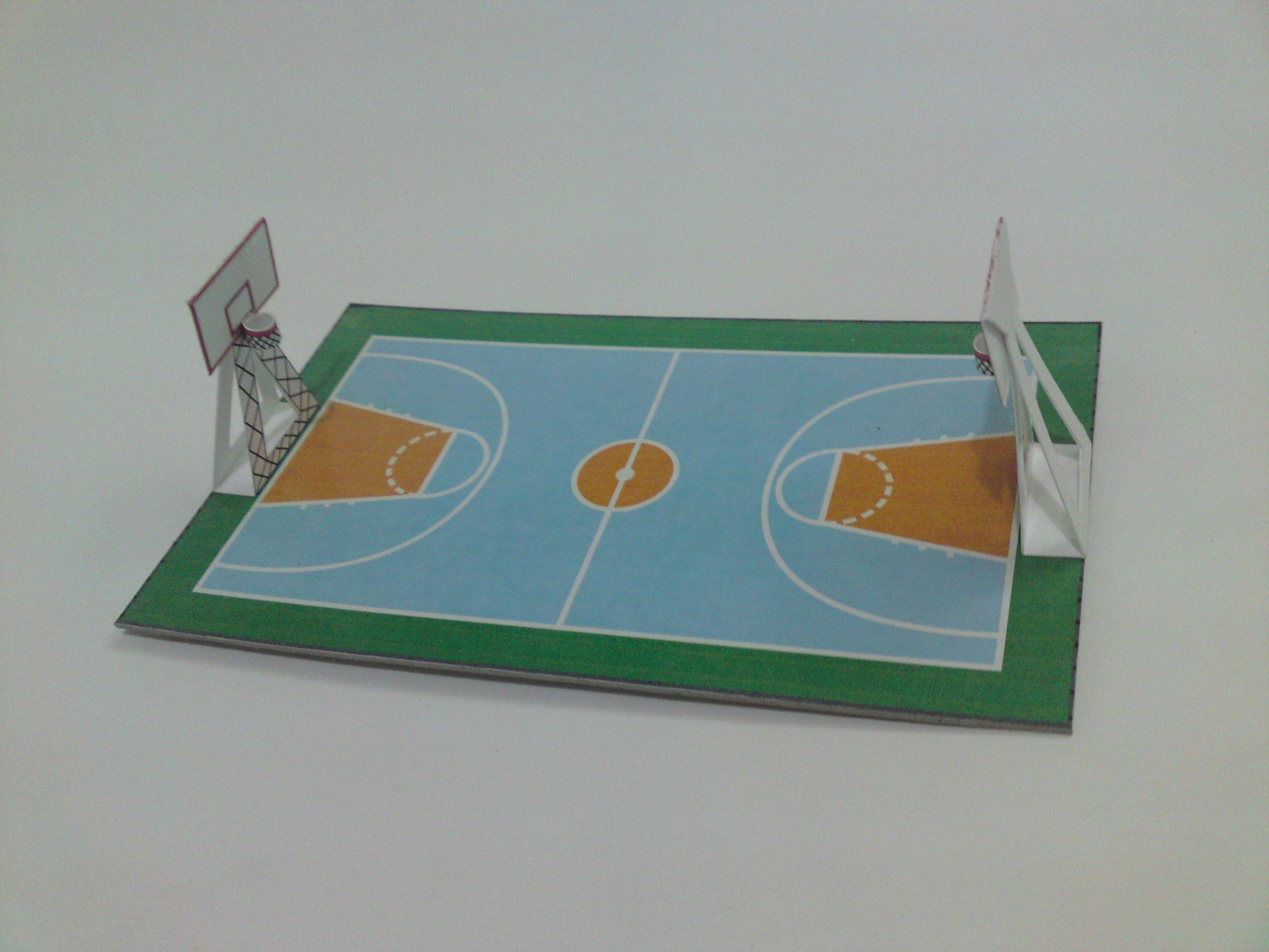 Basketball Court Cancha De Baloncesto Maquetas Escolares Ideas De Colegio