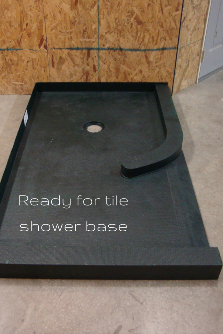 This Ready For Tile Shower Base Is A Way To Get A Tile Shower Which Will  Last And Wonu0027t Leak.