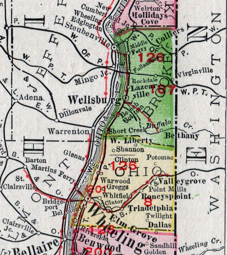 Ohio County, West Virginia, 1911, Map, Wheeling, Elm Grove ... on map of seneca rocks wv and surrounding area, map of ohio and west virginia, map of wheeling west virginia showing, map of triadelphia wv,
