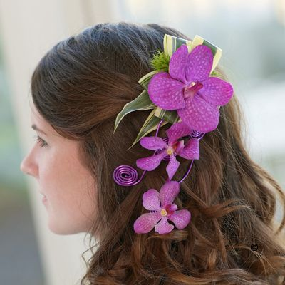 Stunning Orchid Hair Piece On A Clip Orchid Hair Piece Pink Wedding Flowers Orchids