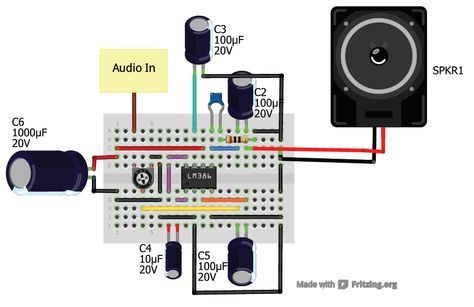 Easy Audio amplifier using LM386 Audio Pinterest Audio