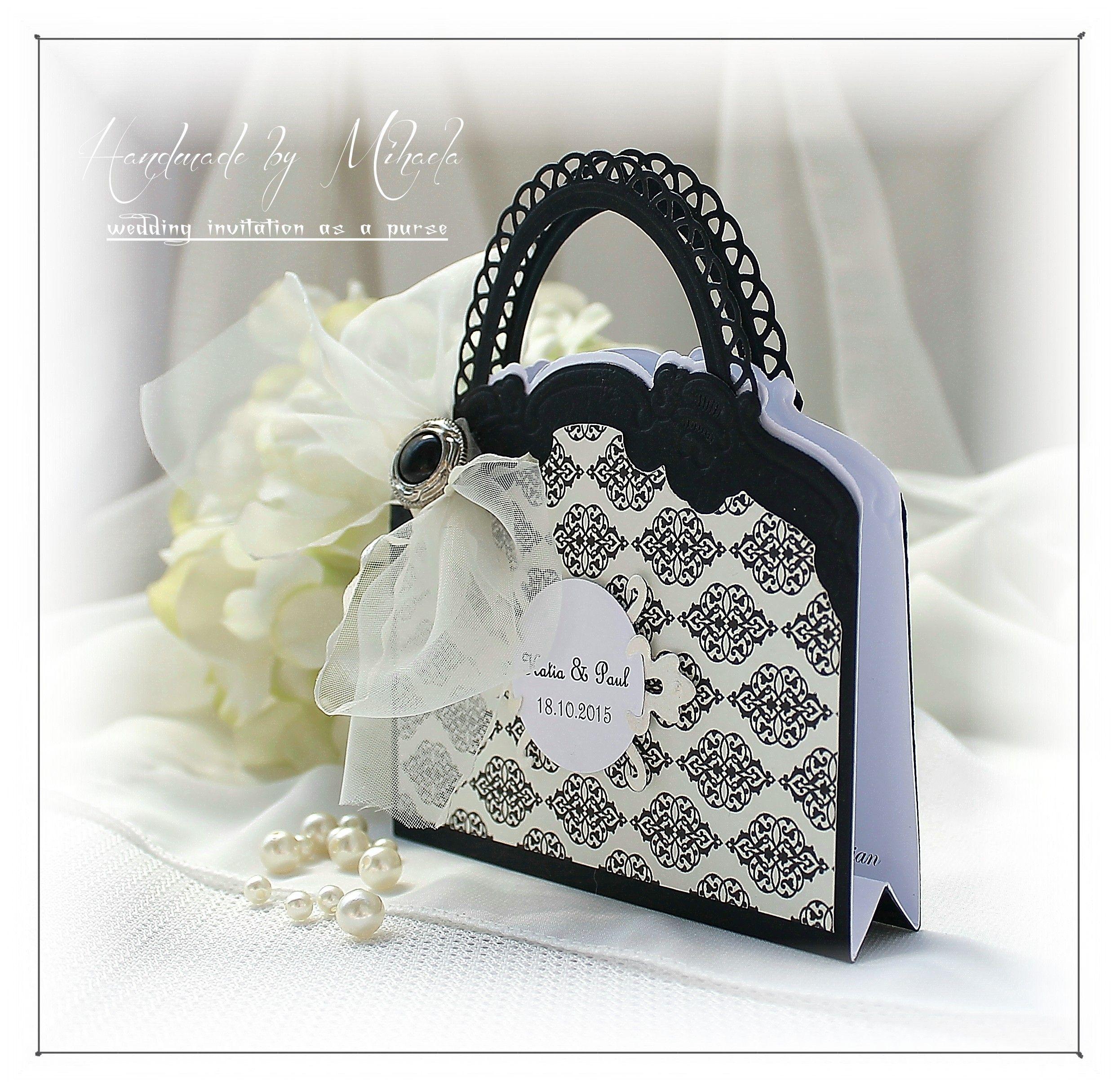 Wedding invitation as a purse | Wedding invitations and decorations ...