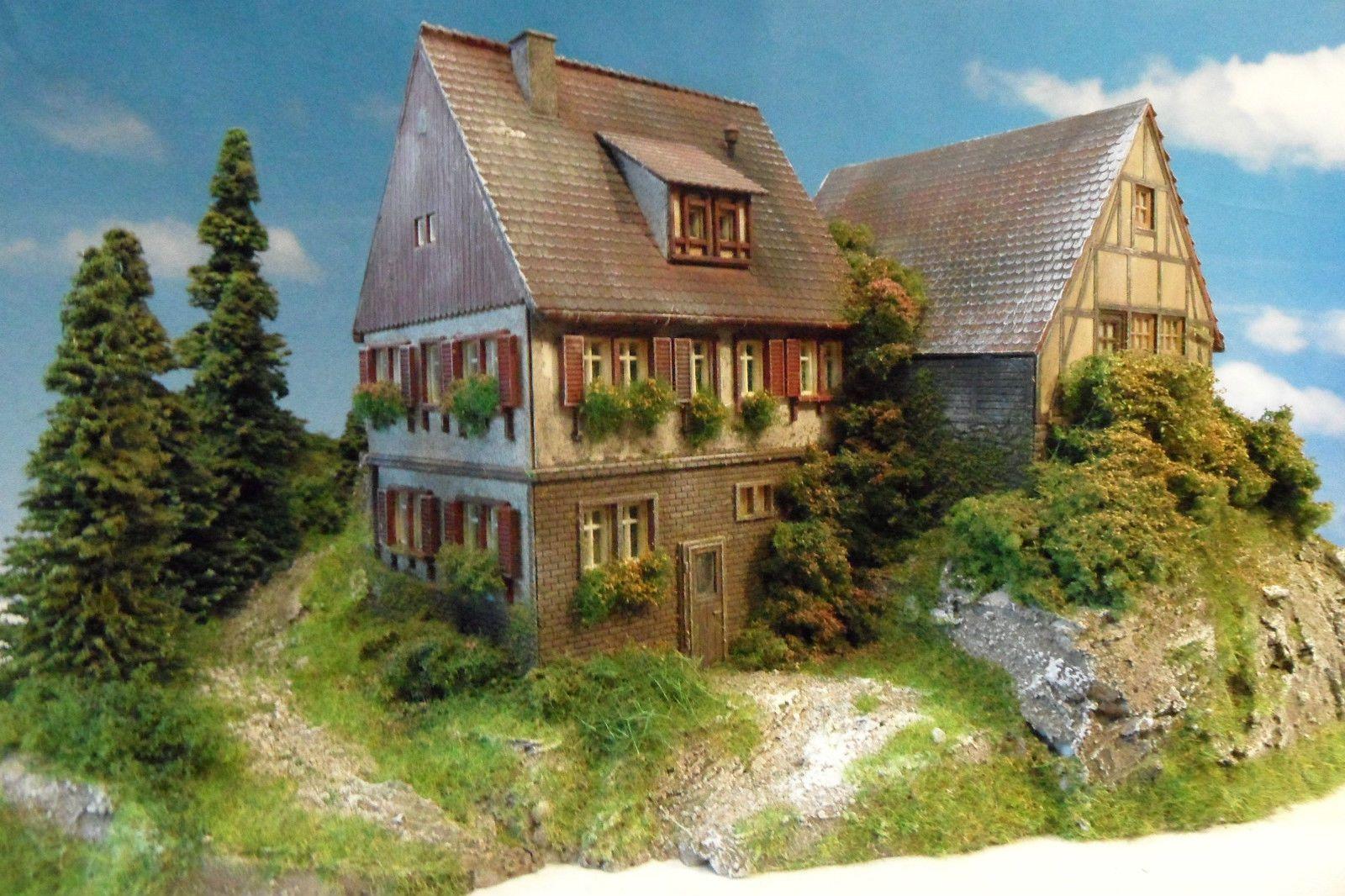 dioramenstudio potsdam landschafts diorama bauernhaus scheunenviertel ho modell ebay model. Black Bedroom Furniture Sets. Home Design Ideas